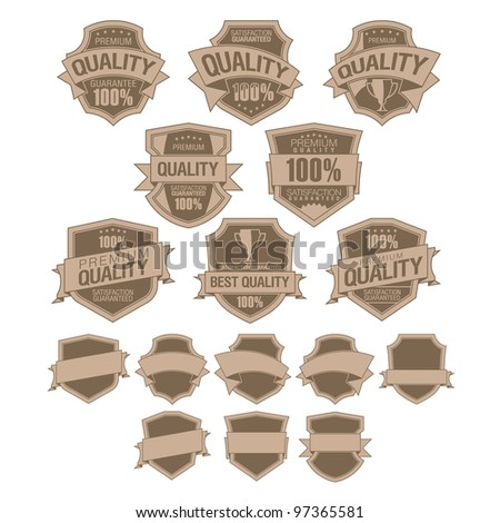 Set of Best Quality retro Labels - stock vector