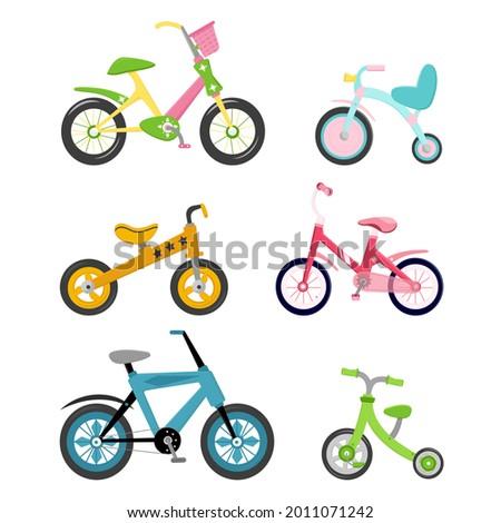 set of 6 bicycles children's