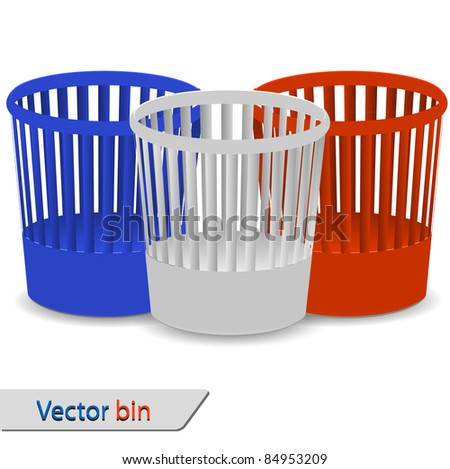 Set of bin for your design. Vector illustration