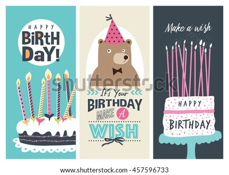 Free Happy Birthday Greeting Card Download Free Vector Art – Photos of Birthday Greeting Cards