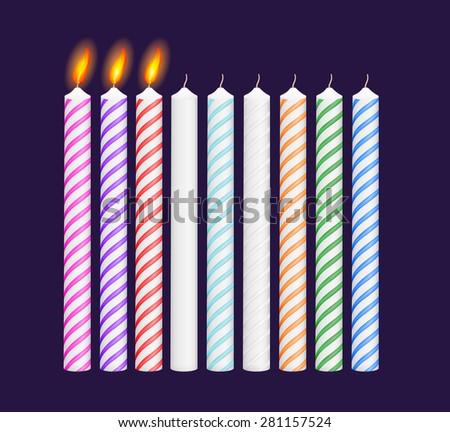 set of birthday multicolored