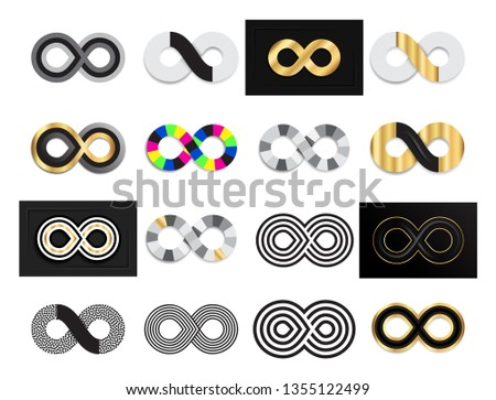 set of black and gold infinity