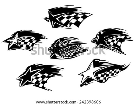 set of black and white racing