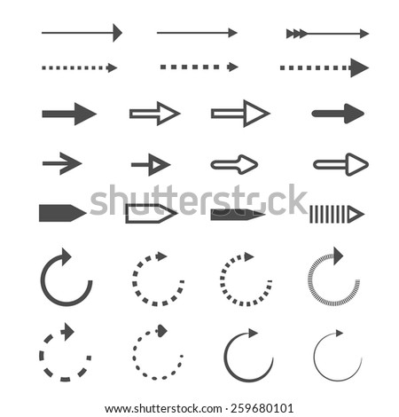 Set of black arrows #259680101