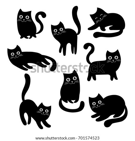 set of black cats collection