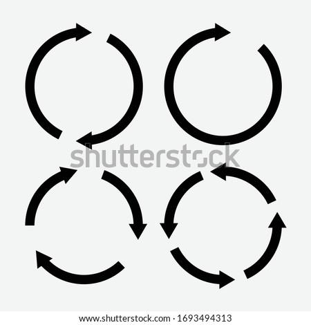 Set of black circle vector arrows. Vector Icons. eps 10