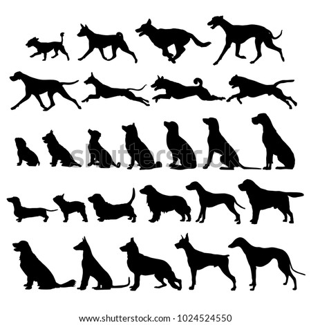 set of black dogs icon