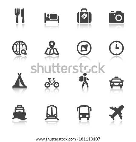 set of black flat icons with