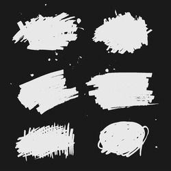 Set of Black ink vector. Grunge texture, background, template.