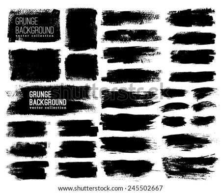 Set of Black ink vector stains #245502667