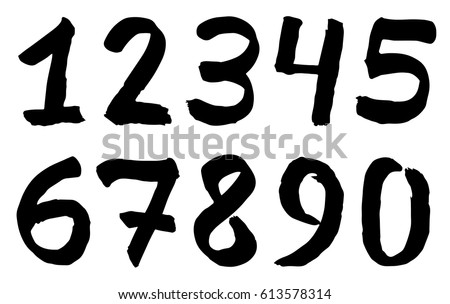 Set of black inky numbers