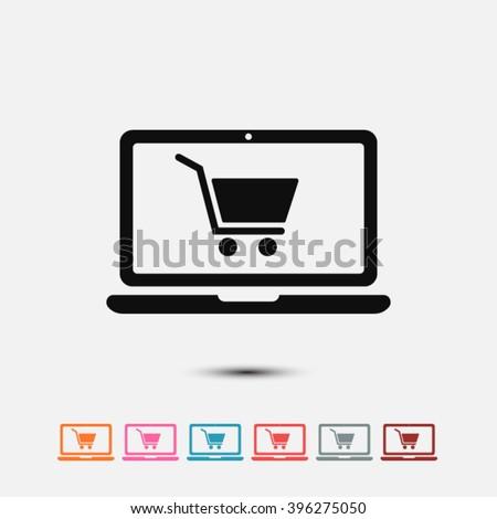 set of  black online shopping...