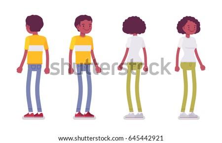 set of black or african