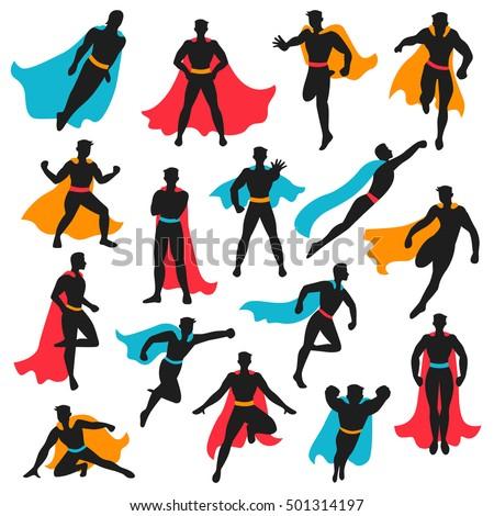 set of black superhero