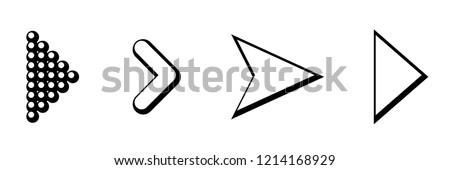 Set of black vector arrows. Arrow icon. Arrow vector icon. Arrow. Arrows vector collection. Eps10 #1214168929
