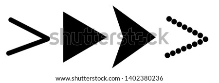 Set of black vector arrows on a white  background. Arrow icon. Arrow vector icon. Arrow. Arrows vector collection