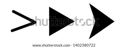 Set of black vector arrows on a white  background. Arrow icon. Arrow vector icon. Arrow. Arrows vector collection  #1402380722