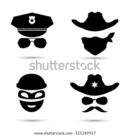 set of black vector icons
