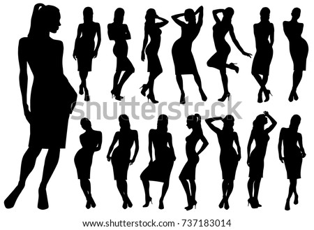 set of black vector silhouettes