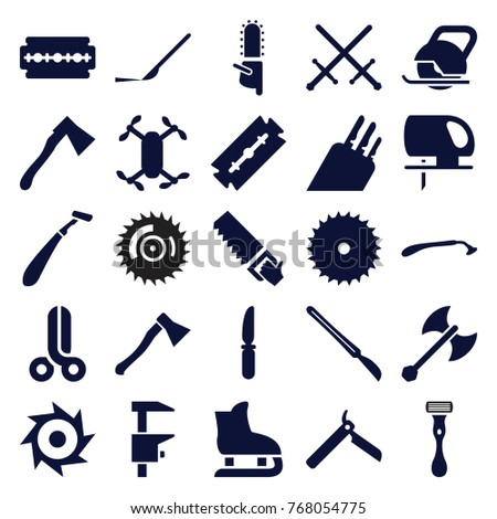 set of 25 blade filled icons