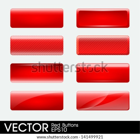 Set of blank red buttons