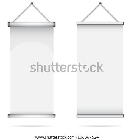 Set of Blank roll up poster