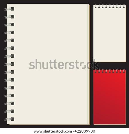 Set of blank spiral bound artists sketch pads / sketch books / paper