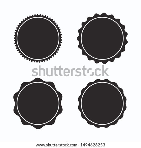 Set of blank stamps. Great for banners, badges, etc