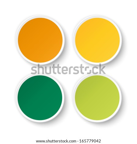 Set of blank stickers. Promotional labels. Vector illustration #165779042