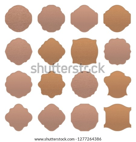 Set of blank vintage textured vector design elements. Blanks for badges and labels for bussines and advertising.