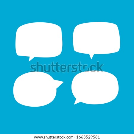 set of blank white bubble speech that design for label, tag, dialog word or chat symbol