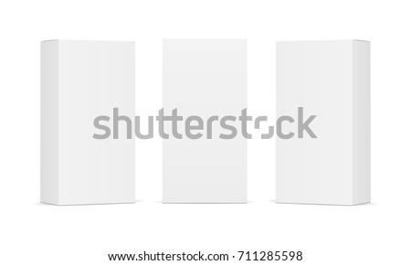 set of blank white product...