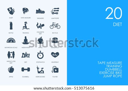 Free vector emagrecimento icons download vetores e grficos gratuitos set of blue hamster library diet icons ccuart Choice Image