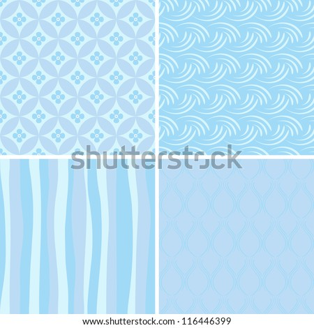 stock-vector-set-of-blue-seamless-patterns