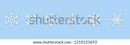 Set of blue Snowflakes icons. Black snowflake. Snowflakes template. Snowflake winter. Snowflakes icons. Snowflake vector icon. Eps10