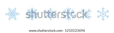 Set of blue Snowflakes icons. Black snowflake. Snowflakes template. Snowflake winter. Snowflakes icons. Snowflake vector icon