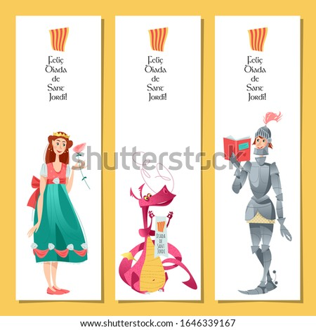 set of bookmarks with princess