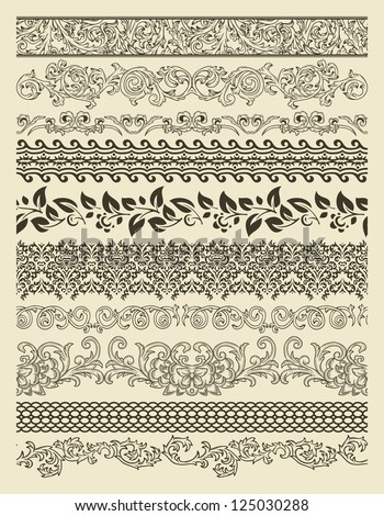 Set of borders in vintage style