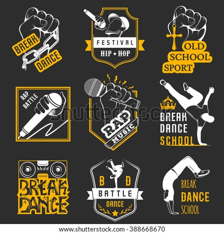 set of breakdance bboy