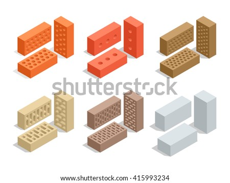 set of 6 bricks are shown in