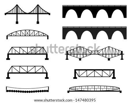 set of bridge illustrated on