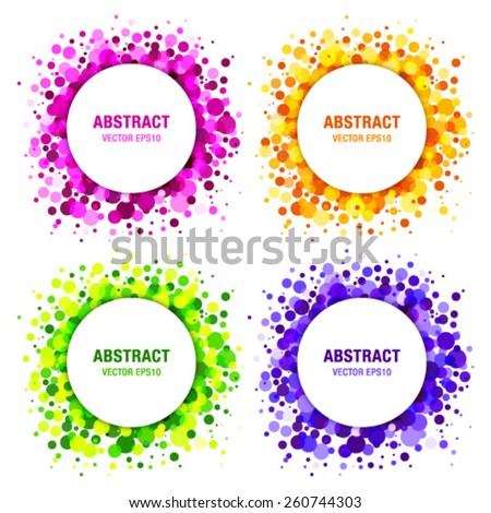 set of bright abstract circles