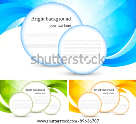 Set of bright background with circles