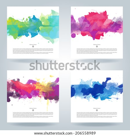 set of bright colorful vector