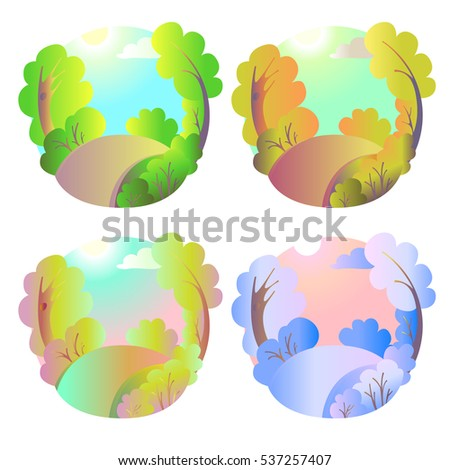 set of bright vector natural