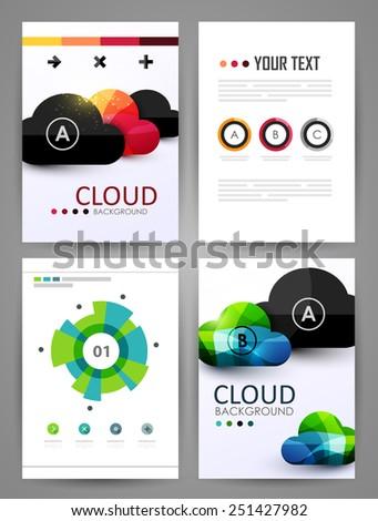 Set of brochure design templates. Design elements. Bright modern backgrounds. #251427982
