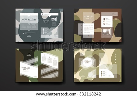 set of brochure  poster