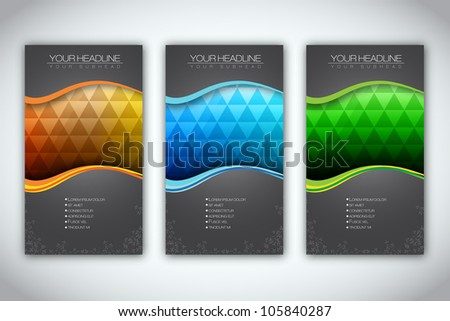 Set of Brochure Template | EPS10 Vector Design - stock vector