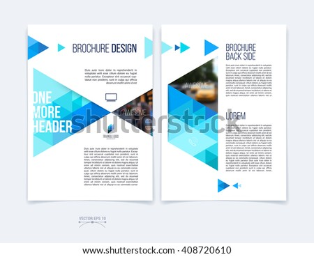 set of brochure template layout