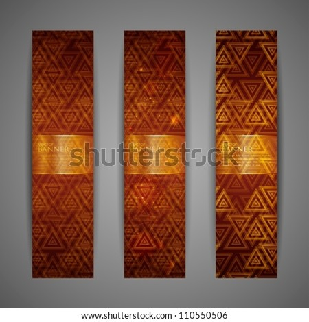 set of brown banners